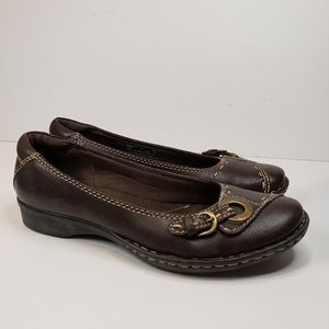 Clark's Bendables Brown Flats Size 8